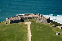 Aerial view of El Morro Fort