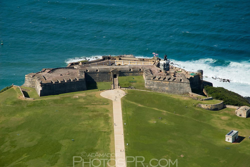 Aerial view of El Morro Fort