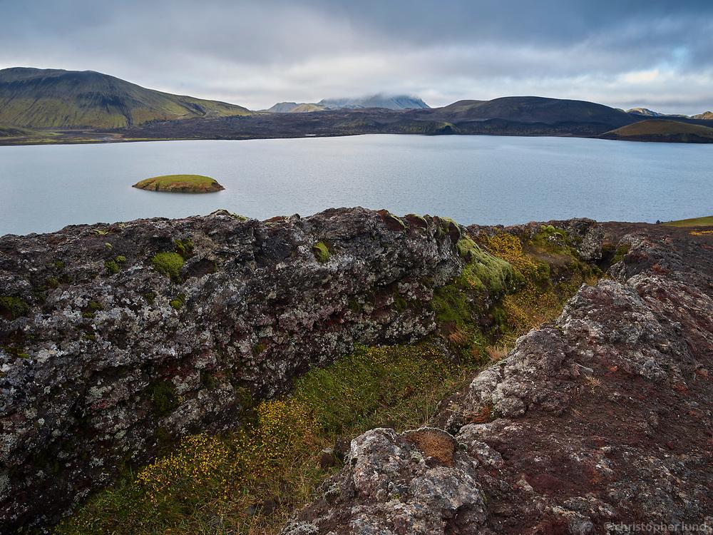 Lake Frostastaðavatn, Central Highlands of Iceland.