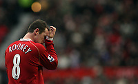 Photo: Paul Thomas.<br /> Manchester United v Charlton Athletic. The Barclays Premiership. 10/02/2007.<br /> <br /> No luck today for Wayne Rooney of Man Utd.