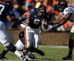 Virginia tight end Mikell Simpson (5)..The #23 Virginia Cavaliers defeated the #24 Wake Forest Demon Deacons 17-16 at Scott Stadium in Charlottesville, VA on November 3, 2007.