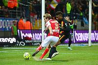 Franck SIGNORINO / Dimitri CAVARE - 25.01.2015 - Reims / Lens  - 22eme journee de Ligue1<br />Photo : Dave Winter / Icon Sport