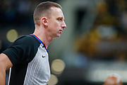 INDIANAPOLIS, IN - DECEMBER 31: NBA referee Justin Van Duyne #64 is seen during the Indiana Pacers and Atlanta Hawks game at Bankers Life Fieldhouse on December 31, 2018 in Indianapolis, Indiana. NOTE TO USER: User expressly acknowledges and agrees that, by downloading and or using this photograph, User is consenting to the terms and conditions of the Getty Images License Agreement. (Photo by Michael Hickey/Getty Images) *** Local Caption *** Justin Van Duyne