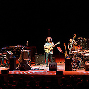 BETHESDA, MD - January 25th, 2017 - Guitarist Pat Metheny (center) performs with pianist Gwilym Simcock, bassist bassist Linda O and drummer Antonio Sanchez at the Music Center at Strathmore in Bethesda, MD. (Photo by Kyle Gustafson / For The Washington Post)