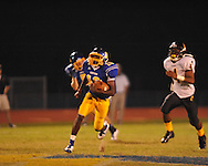 Oxford High's Nick Brown (18) catches a 77 yard touchdown pass vs. Charleston in Oxford, Miss. on Friday, August 24, 2012. Oxford won 21-18 to improve to 2-0.