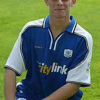 St Johnstone photocall season 2002-2003<br />Ross Forsyth<br /><br />Picture by Graeme Hart.<br />Copyright Perthshire Picture Agency<br />Tel: 01738 623350  Mobile: 07990 594431