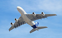 Airbus A380, Farnborough International Airshow, Farnborough Airport UK, 18 July 2014, Photo by Richard Goldschmidt
