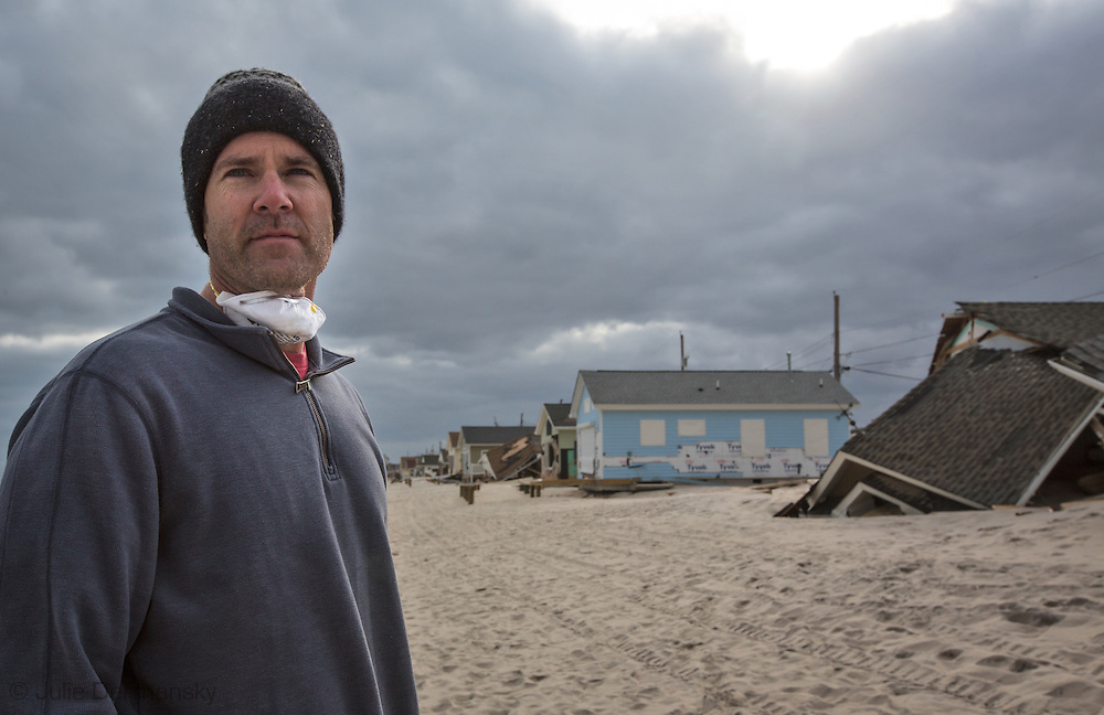 Michael Brune checks out homes destroyed by Superstorm Sandy's surge in Ocean Beach, NJ, November 18