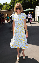 Image licensed to i-Images Picture Agency. 04/07/2014. London, United Kingdom. Anna Wintour arriving on day eleven of the Wimbledon Tennis Championships . Picture by Stephen Lock / i-Images