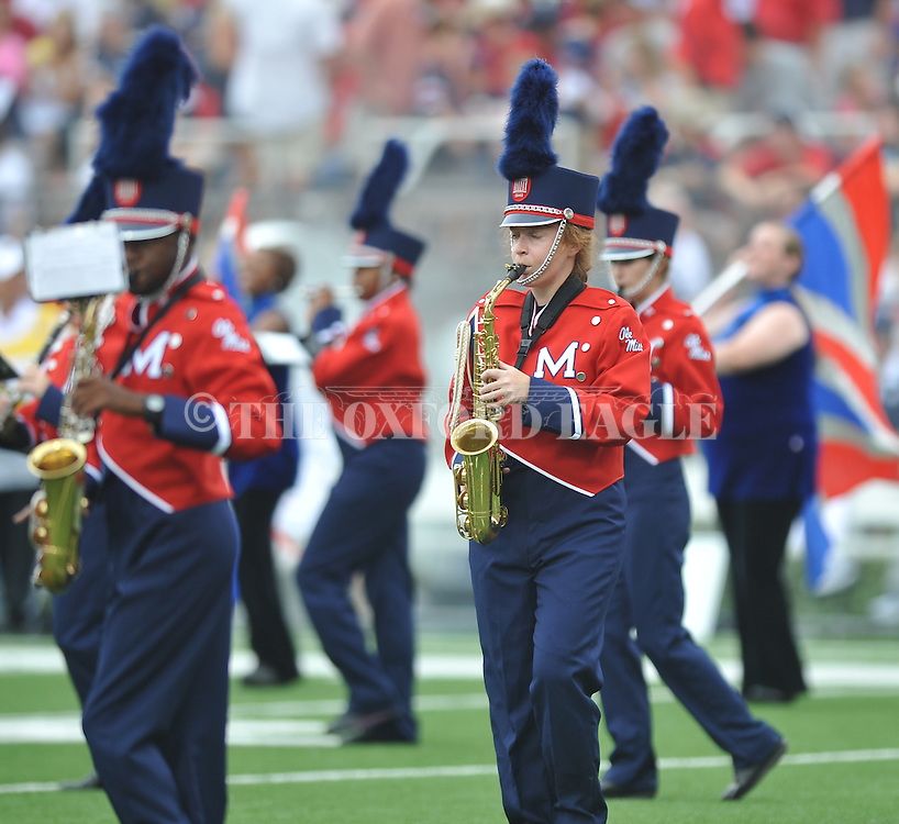 The Ole Miss band at Vaught-Hemingway Stadium in Oxford, Miss. on Saturday, September 3, 2011. BYU won 14-13.