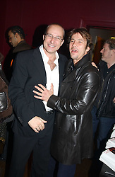 Left to right,  PAUL MCKENNA and JAY KAY at a party to celebrate the publication of Paul McKenna's new book 'I Can Make You Thin' held at the Soho Hotel, 4 Richmond Mews, London W1 on 8th March 2005.<br />