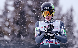 12.03.2019, Lysgards Schanze, Lillehammer, NOR, FIS Weltcup Skisprung, Raw Air, Lillehammer, Einzelbewerb, Herren, im Bild Timi Zajc (SLO) // Timi Zajc of Slovenia during the men's individual competition of the 2nd Stage of the Raw Air Series of FIS Ski Jumping World Cup at the Lysgards Schanze in Lillehammer, Norway on 2019/03/12. EXPA Pictures © 2019, PhotoCredit: EXPA/ JFK