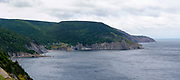 View of Meat Cove, Nova Scotia, Canada from a distance away.