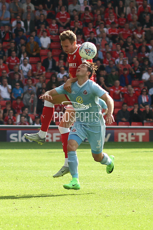 Sunderland defender Bryan Oviedo (3) during the EFL Sky Bet Championship match between Barnsley and Sunderland at Oakwell, Barnsley, England on 26 August 2017. Photo by Justin Parker.