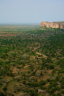 A view of the sandy Gondo plain that streches until Burkina Faso. The Dogon Country is the most visited part of Mali with tourists visiting its tipical  villages that can be located on the cliff, on the sandy plain or in the rocky plateau plain that streches until Burkina Faso. The Dogon Country is the most visited part of Mali with tourists visiting its tipical  villages that can be located on the cliff, on the sandy plain or in the rocky plateau
