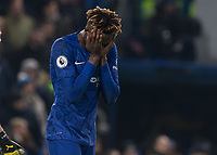 Football - 2019 / 2020 Premier League - Chelsea vs. Arsenal<br /> <br /> Tammy Abraham (Chelsea FC) reacts after Arsenal equalize at Stamford Bridge <br /> <br /> COLORSPORT/DANIEL BEARHAM