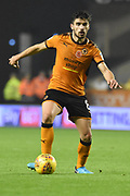 Wolverhampton Wanderers midfielder Ruben Neves (8) 2-0 during the EFL Sky Bet Championship match between Wolverhampton Wanderers and Fulham at Molineux, Wolverhampton, England on 3 November 2017. Photo by Alan Franklin.
