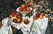 Apples and Oranges', c1899. Oil on canvas. Paul Cezanne (1839-1906) French Post-Impressionist painter. Still Life Fruit
