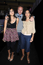 SIMON & YASMIN MILLS with their daughter LAUREN MILLS  at a party to celebrate the launch of Billionaire Boys Club Ice Cream Season 7 at Harvey Nichols, Knightsbridge, London on 18th June 2008.<br />
