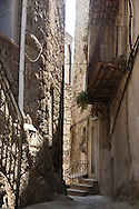 Corsica. France. Sartene,the old perched village on a montain , old city, the old middle age village  Corsica south - France / Sartene , village perché sur la montagne la vielle ville , les rues de la ville medievale Corse du sud France