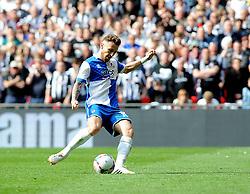Bristol Rovers' Matty Taylor second pen - Photo mandatory by-line: Neil Brookman/JMP - Mobile: 07966 386802 - 17/05/2015 - SPORT - football - London - Wembley Stadium - Bristol Rovers v Grimsby Town - Vanarama Conference Football