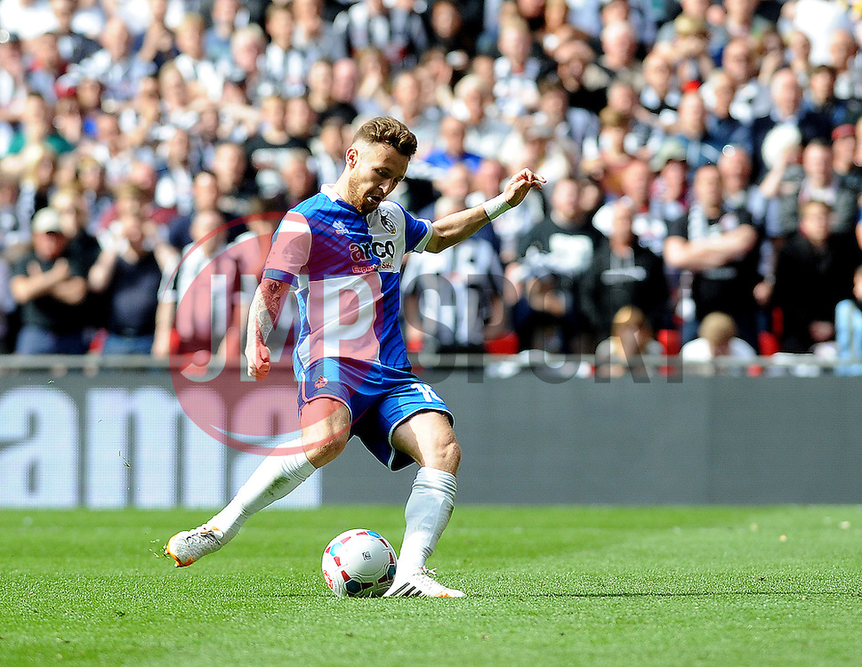 Bristol Rovers' Matty Taylor second pen - Photo mandatory by-line: Neil Brookman/JMP - Mobile: 07966 386802 - 17/05/2015 - SPORT - football - London - Wembley Stadium - Bristol Rovers v Grimsby Town - Vanarama Conference Football