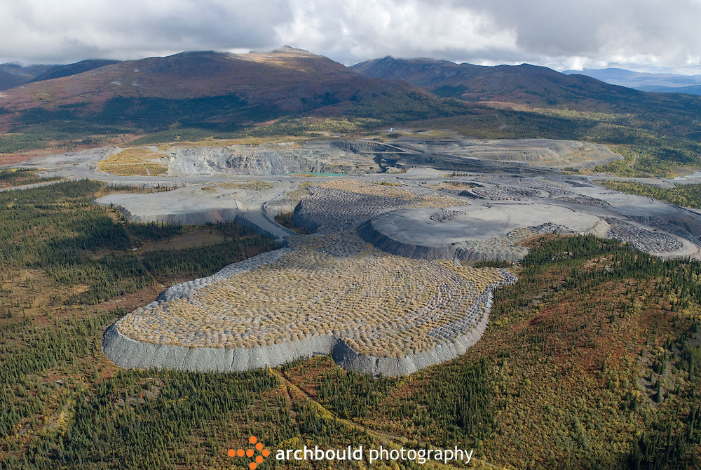 Aerial view of the Faro Mine<br /> <br /> NOT IN YOUR BUDGET? Contact Cathie for a price specific to your project.