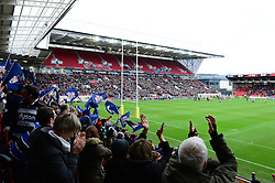 Bristol Rugby fans look on during the Bristol Rugby v Bath Rugby game - Mandatory by-line: Dougie Allward/JMP - 26/02/2017 - RUGBY - Ashton Gate - Bristol, England - Bristol Rugby v Bath Rugby - Aviva Premiership