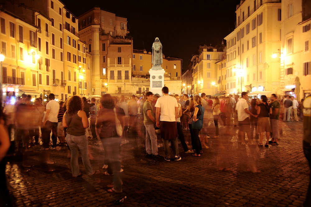 Campo de' Fiori at night, Rome, Italy, Frommer's Italy Day By Day