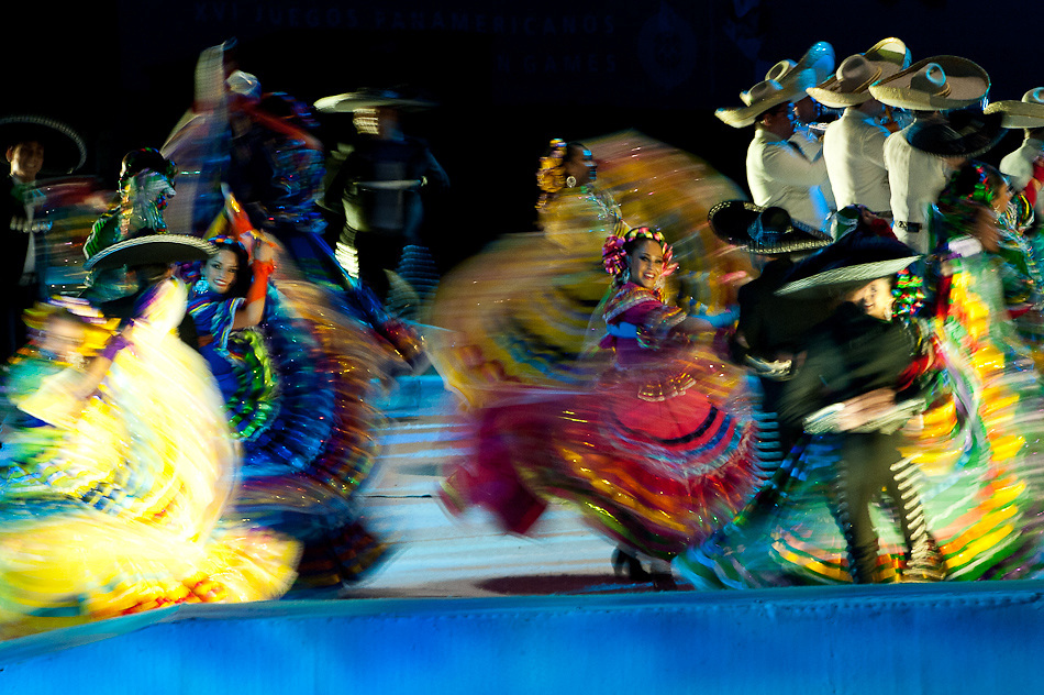 Oct. 14, 2011 - Guadalajara, Mexico - Opening ceremonies of the 2011 Pan American Games held at the Omnilife Stadium in Guadalajara..© Benjamin B Morris