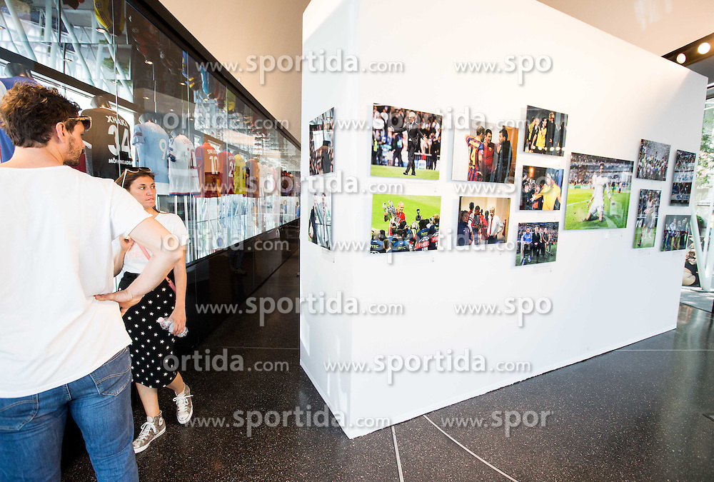 Photo exhibition in the city centre prior to the football match between Real Madrid (ESP) and Atlético Madrid (ESP) in Final of UEFA Champions League, on May 28, 2016 in Doumo, Milan, Italy. Photo by Vid Ponikvar / Sportida