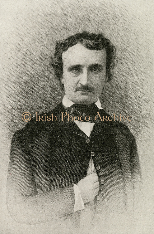 'Edgar Allen Poe (1809-1848) American writer, poet, editor, and literary critic, part of the American Romantic Movement. Best remembered for his macabre short stories.'