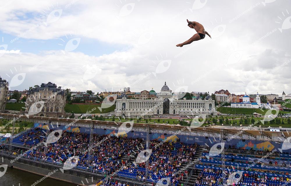 DE ROSE Alessandro ITA<br /> High Diving - Men's 27m final<br /> Day 13 05/08/2015<br /> XVI FINA World Championships Aquatics Swimming<br /> Kazan Tatarstan RUS July 24 - Aug. 9 2015 <br /> Photo Giorgio Perottino/Deepbluemedia/Insidefoto
