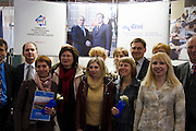 Hannover Messe 2005, the biggest annual industrial fair in the World..Posing for souvenir shot with Russian President Vladimir Putin and German Chancellor Gerhard Schro?der.
