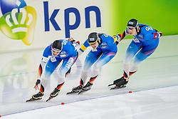 10-11-2017 NED: ISU World Cup, Heerenveen<br /> Team Pursuit women, Germany C.  Pechstein,  R.  Dufter,  G.  Hirschbichler,  M.  Uhrig,
