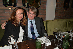 LUCY YEOMANS and ROBERT HARDMAN at a dinner hosted by Lucy Yeomans and Amanada Foreman to celebrate the launch of the film Georgiana, Duchess of Devonshire held at sackville's, Sackville Street, London on 7th September 2015.