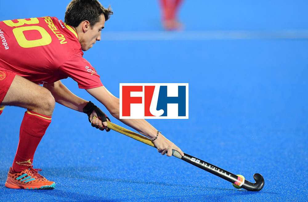 Odisha Men's Hockey World League Final Bhubaneswar 2017<br /> Match id:15<br /> Spain v Australia<br /> Foto: Marc Perrellon (Esp) <br /> COPYRIGHT WORLDSPORTPICS FRANK UIJLENBROEK