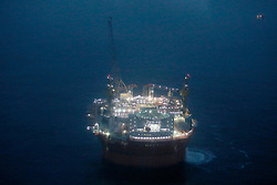 NORWAY BARENTS SEA 6DEC15 - General view of the production platform Goliat in the Barents Sea operated by Italian energy compay Eni. It is the world's most northerly oil production platform.<br /> <br /> jre/Photo by Jiri Rezac / Greenpeace<br /> <br /> © Jiri Rezac 2015