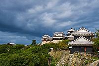 Japon, île de Shikoku, prefecture de Ehime, Matsuyama, le château de Matsuyama-jo // Japan, Shikoku island, Ehime region, Matsuyama, castle of Matsuyama-jo