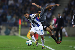 November 1, 2017 - Porto, Porto, Portugal - Porto's Mexican forward Jesus Corona (L) vies with Midfielder Bernardo of Leipzig (R) during the UEFA Champions League Group G match between FC Porto and RB Leipzig at Dragao Stadium on November 1, 2017 in Porto, Portugal. (Credit Image: © Dpi/NurPhoto via ZUMA Press)