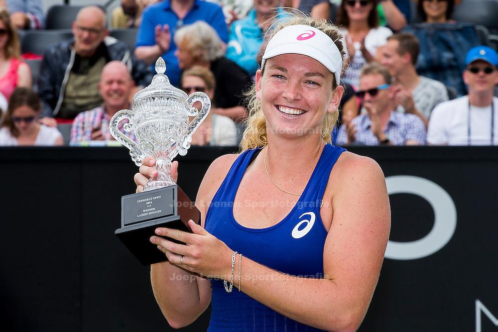 ROSMALEN, tennis Topshelf Open 2014, 21-06-2014, Autotron Rosmalen, dames finale, Coco Vandeweghe (USA) wint de dames finale.