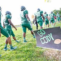 Cody High School versus Pershing High School on Cody's new football field in Detroit.