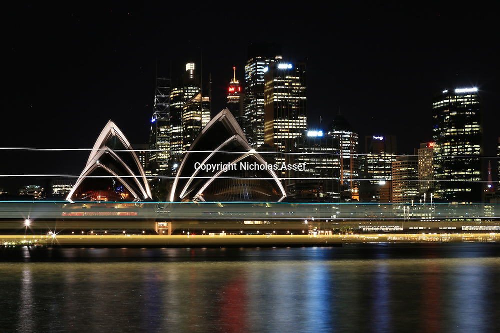 Sydney Harbour Night Lines