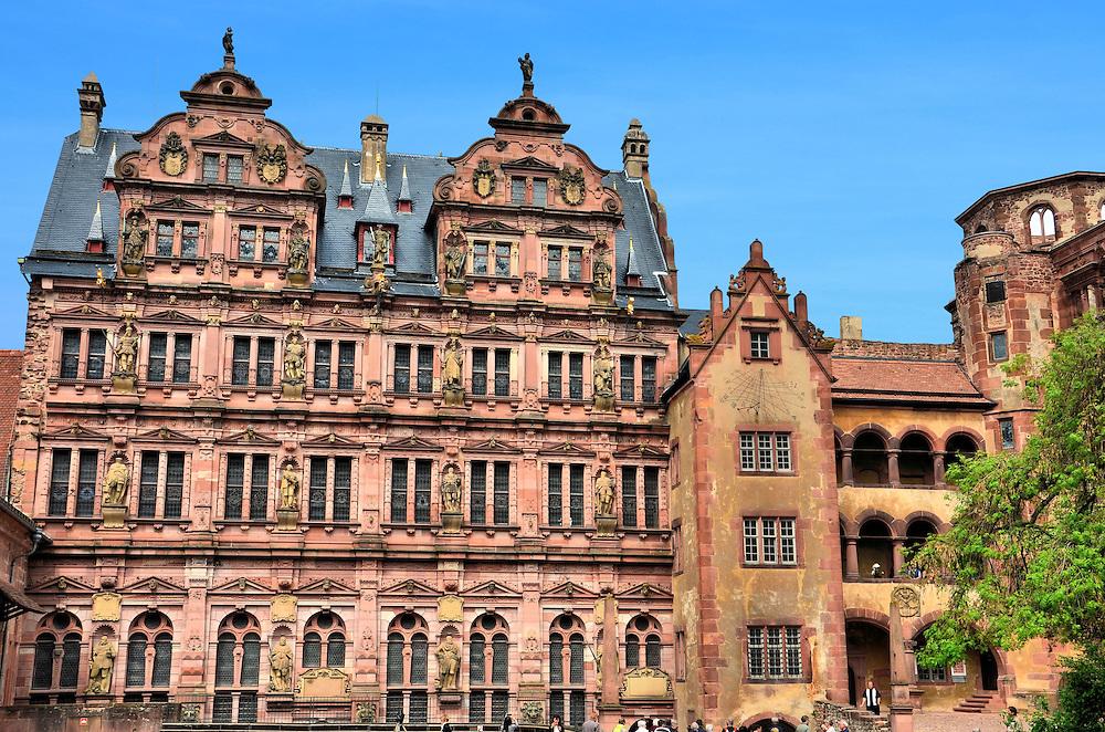 Heidelberg Castle Friedrichsbau In Heidelberg Germany