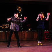 "Josh Hilberman and Demi Remick perform in the show ""Ring in the Rhythm! A Jazz & Tap Holiday"" at The Dance Hall in Kittery, ME"