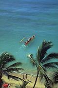 Outrigger Canoe, Waikiki, Oahu, Hawaii, USA<br />