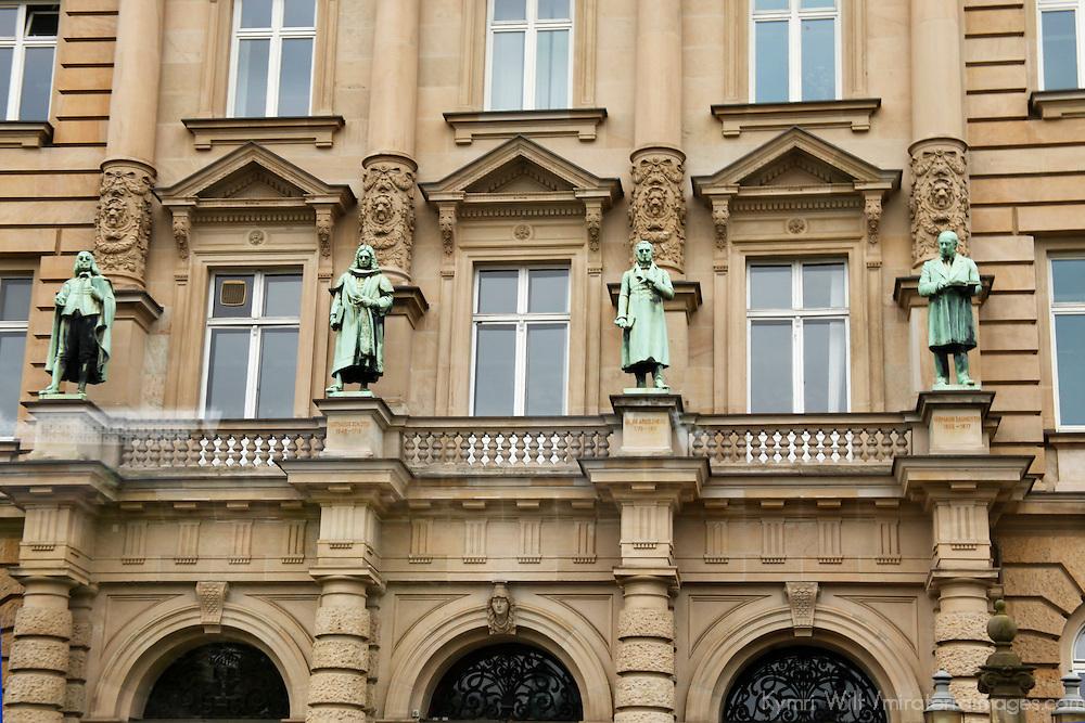 Europe, Germany, Hamburg. Hamburg architecture - historic facade.