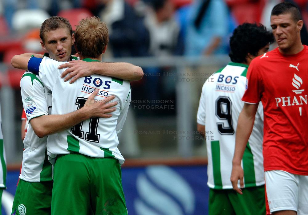 17-05-2007 VOETBAL: PLAY OFF: UTRECHT - GRONINGEN: UTRECHT<br /> FC Groningen heeft in de UEFA Cup-jacht FC Utrecht met 2-0 verslagen / Luis Suarez (lr) scoort de 1-0 en 2-0<br /> ©2007-WWW.FOTOHOOGENDOORN.NL