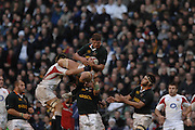 Twickenham, GREAT BRITAIN, Johann MULLER, collects the line out ball, during the, Investec 2006 Rugby Challenge, England vs South Africa, at Twickenham Stadium, ENGLAND on Sat 25.11.2006. [Photo, Peter Spurrier/Intersport-images]