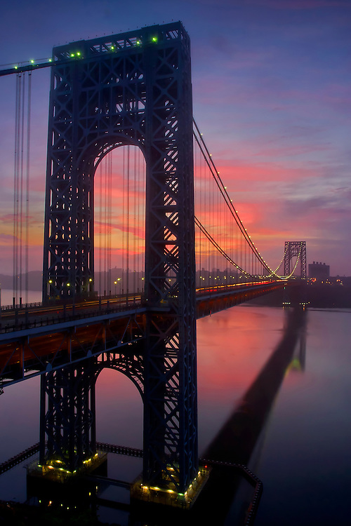 George Washington Bridge, New York, tavel, transportation, sunrise